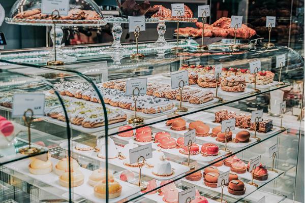 Café GMP Patisserie, Kuchenauswahl