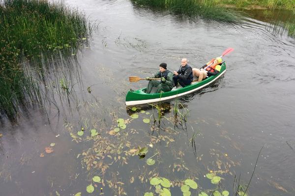 """Atpūtas centra """"Junsi"""" izbrauciens ar kano laivām Somā"""