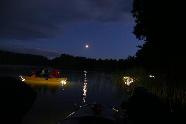 Lighted boat trip on Lake Valgjärv in Koorküla