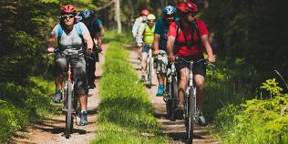 Fahrradwanderer in Estland