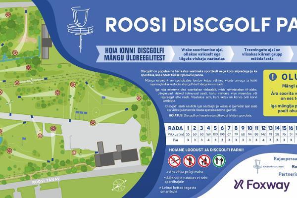 Discgolf-Park Roosi, Schema der Anlage