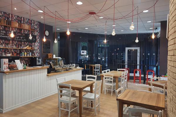 Café Sparkla, gemütliche Innenansicht