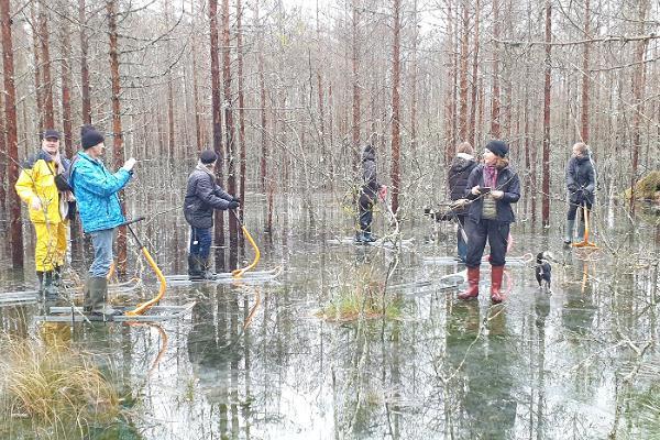 Soomaa.com Wanderungen mit finnischen Tretschlitten