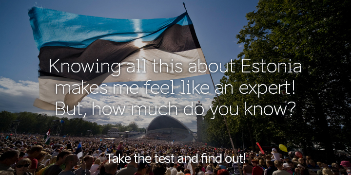Test your knowledge of Estonian history and culture, and win a prize!