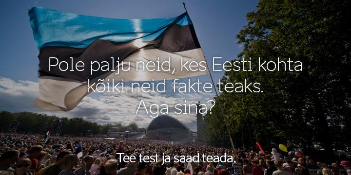 Pane proovile oma teadmised Eesti kultuurist ja võida ööbimisega reis!