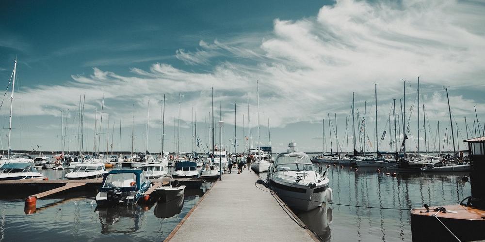 エストニアの港
