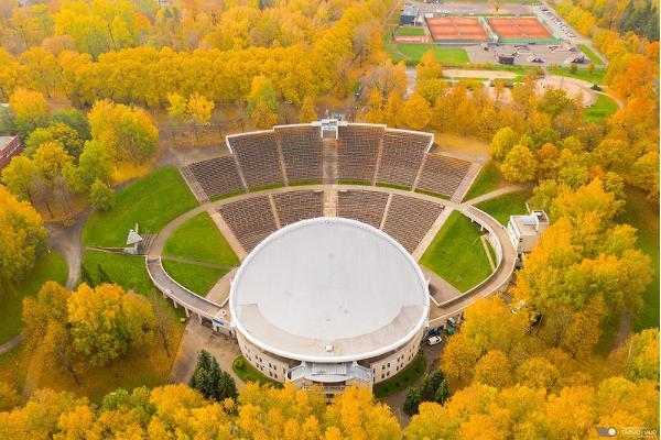 Tähtveren urheilupuiston kuntopolut syksyllä
