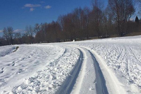 Tähtveren urheilupuiston kuntopolut lumisena talvena