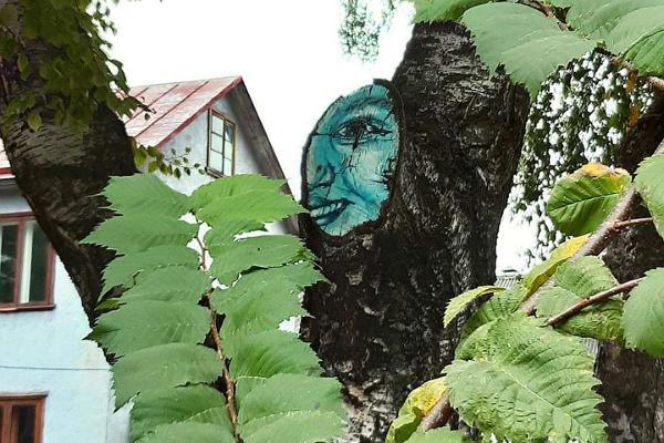 Supilinna, ielu mākslas koka ēku harmoniska simbioze