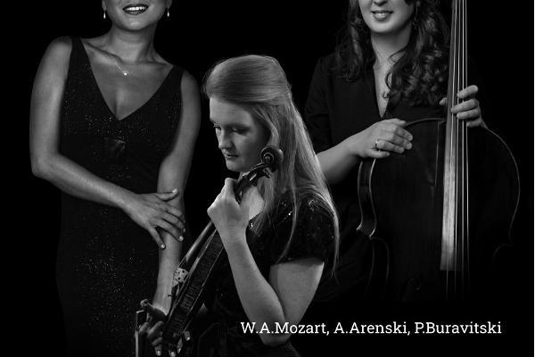 Klaveritrio Sempre musica kontserdi plakat