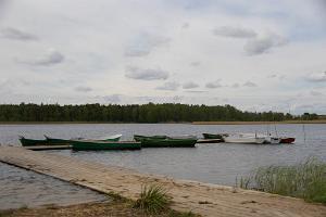 Lake Väinjärv and camping area