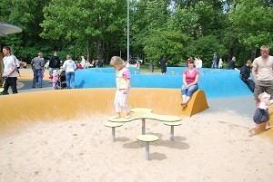 Lekplatsen på Pärnu strand