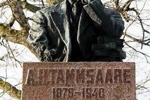 Monument to Anton Hansen-Tammsaare at Järva-Madise